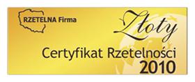 Złoty Certyfikat Rzetelności